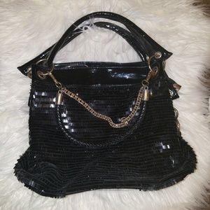 Handbags - Black Sequin Purse Handbag